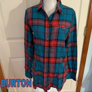 Burton size s small flannel top shirt AH